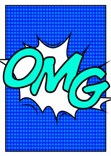 ART - POP ART - OMG BLUES canvas print - self adhesive poster - photo print